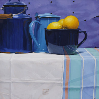Tre limoni - olio su tav. 40 x 40 cm