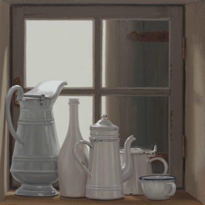 Colpo di vento - 2018, olio su tavola 60 x 60 cm