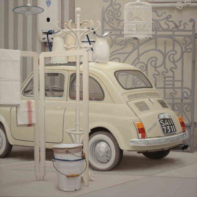 BIANCOCINQUINO - 2014 olio su tavola 150 x 150 cm