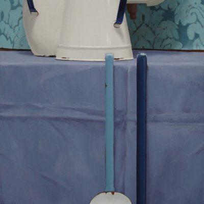 Boilerino - 2010, olio su tavola, 100 x 40 cm