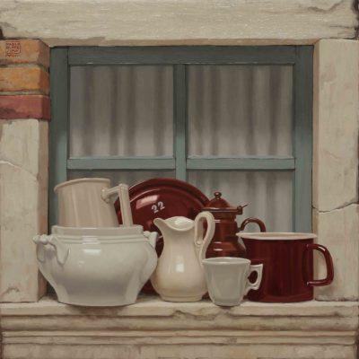 Ventidue - 2017, olio su tavola 70 x 70 cm