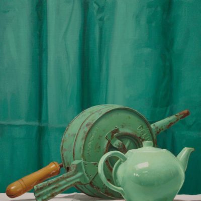 Soffietto Dardo - 2010, olio su tavola 80 x 40 cm