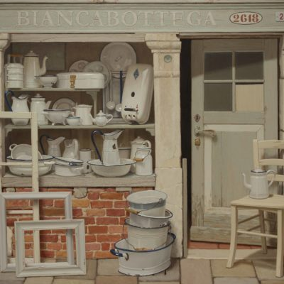 BIANCABOTTEGA - 2017, olio su tavola 150 x 180 cm