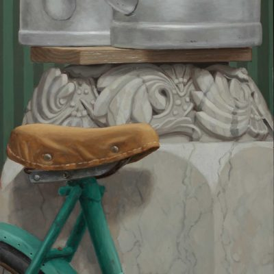 12 Bike for two 2013 olio su tavola 100 x 40 cm. IMG 0496 400x400 - 02.Opere