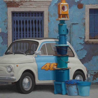 13 STRANISSIMO LAMPIONE 2017 olio su tavola 150 x 180 cm. IMG 7744 400x400 - 02.Opere