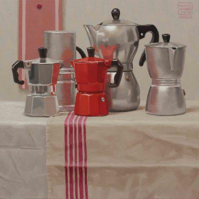 Tutto caffè - 2014, olio su tavola 40 x 40 cm