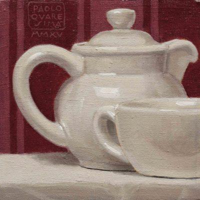Teierina - 2015, olio su tela 15 x 15 cm