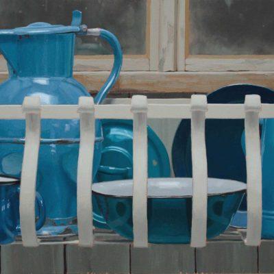 14 Un lume alla finestra 2012 olio su tavola 40 x 100 cm. IMG 9235 400x400 - 02.Opere