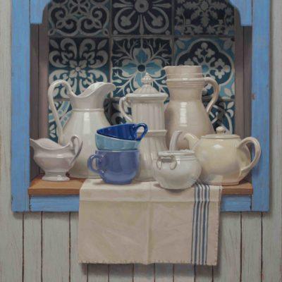 Grandi e nobili cocci - 2016, olio su tavola 100 x 80 cm