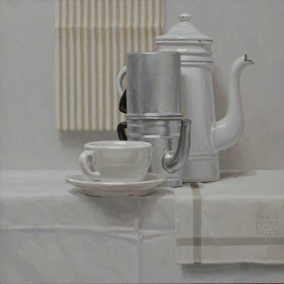 Orzo o caffè§ - 2014, olio su tavola 40 x 40 cm
