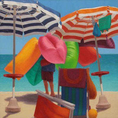 Fiori di spiaggia - 2017, olio su tavola 50 x 50 cm