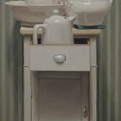 Biancomodino - 2017, olio su tavola 100 x 60 cm