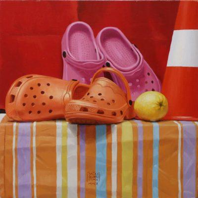 Crocs - olio tav. 40 x 40 cm