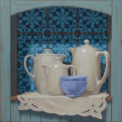 Parecchio caffellatte - 2016, olio su tavola 60 x 60 cm