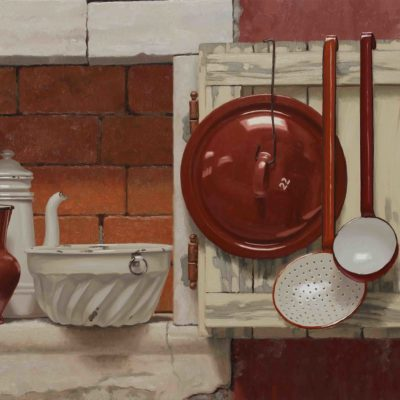 Finestra senza uscita - 2017, olio su tavola 60 x 100 cm