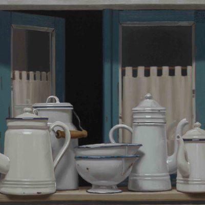 Biancodavanzale - 2016, olio su tela 50 x 120 cm