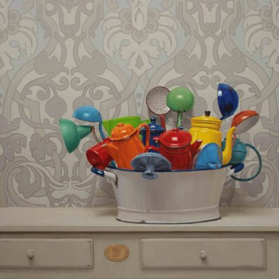Mastellina di colore - 2014, olio su tela 100 x 100 cm