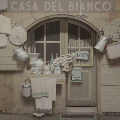 CASA DEL BIANCO - 2017, olio su tavola 150 x 210 cm
