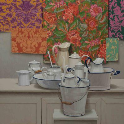Patchwork - 2014, olio su tavola 124 x 124 cm