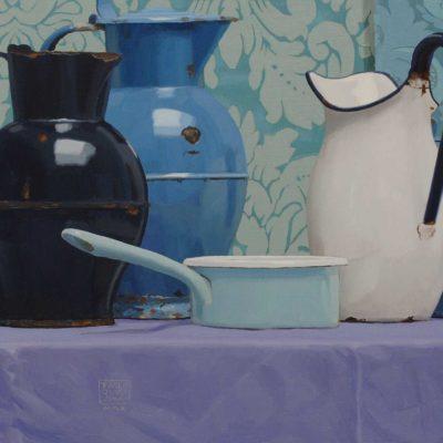 3 Castiglione e nuovo Della Robbia 2010 olio su tavola 40 x 100 cm 400x400 - 02.Opere