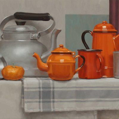 3 Ubi maior minor arancio 2017 olio su tavola 40 x 120 cm. IMG 6883 400x400 - 02.Opere