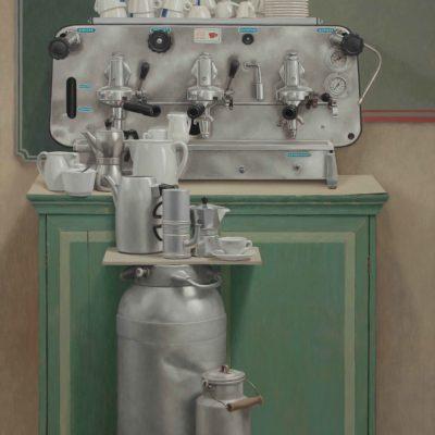 Milk&coffee - 2015, olio su tavola 150 x 130 cm