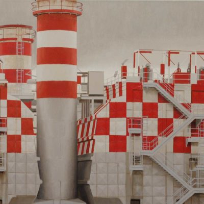 5 Quasi un antico castello 2010 olio su tela 60 x 180 cm 400x400 - 02.Opere