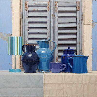 Strani davanzali 2 - 2012 - olio su tela 100 x 100 cm