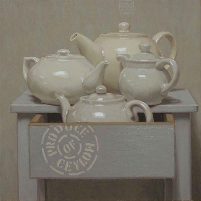 Tutto tè - 2018, olio su tavola 40 x 40 cm