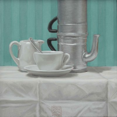 Caffè o macchiato - 2013 olio su tavola 30 x 30 cm
