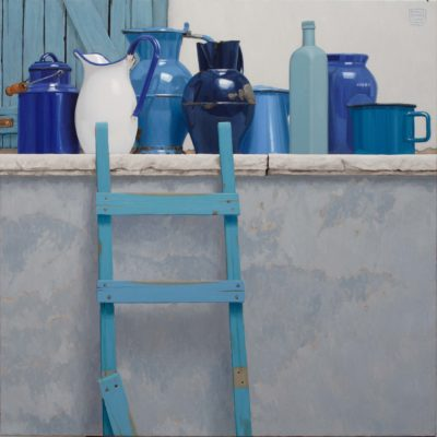 La scala rotta - 2012 - olio su tela 100 x 100 cm