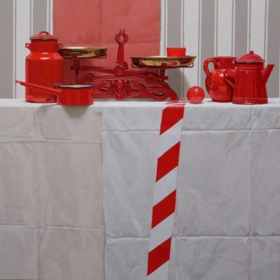 6 Nastro di sicurezza 2011 olio su tela 100 x 100 cm. IMG 6535 400x400 - 02.Opere