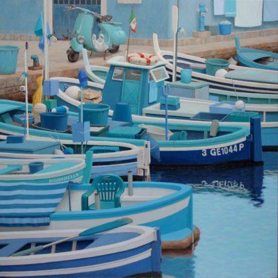 Rondinella - 2013 , olio su tavola 150 x 150 cm