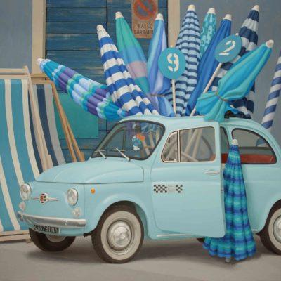 9 Bouquet di ombrelloni 2013 olio su tavola 150 x 150 cm. IMG 0327ok color 400x400 - 02.Opere