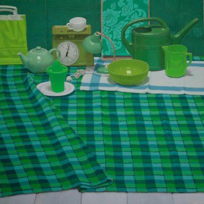 Evergreen - 2012 , olio su tela 100 x 100 cm