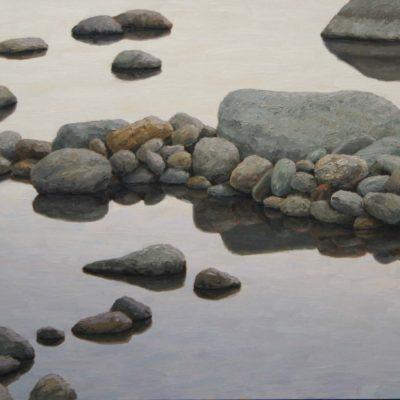 Acqu&sassi,novembre-tav 60x150 cm