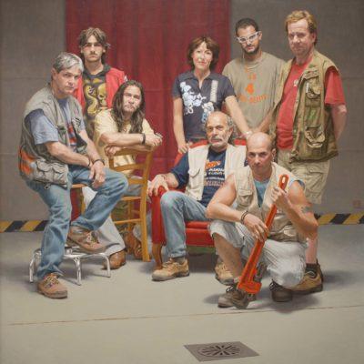 Pronto intervento idraulico s.n.c. - 2006-7, olio su tela 200 x 180 cm
