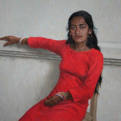 Bianco rosso e nero -tela 80x100 cm
