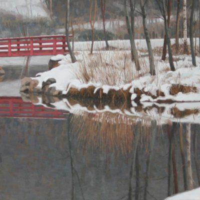 Ponte rosso -tela 80x200 cm