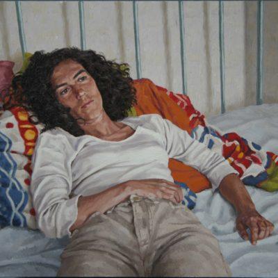 Elisa e il piumino- tav 78x108 cm