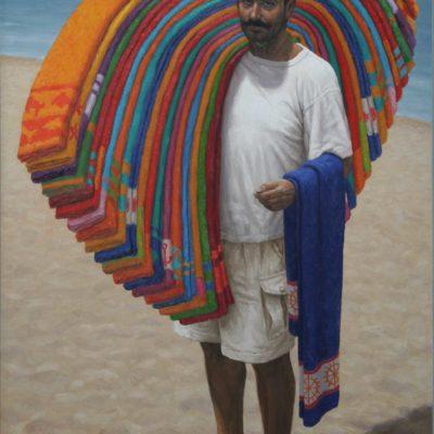 Dalle ali colorate- tela 170x120 cm
