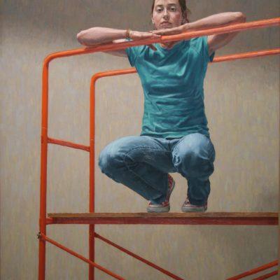 15 Greta sul trabattello 2004 olio su tela 150x120 cm 400x400 - Works archive