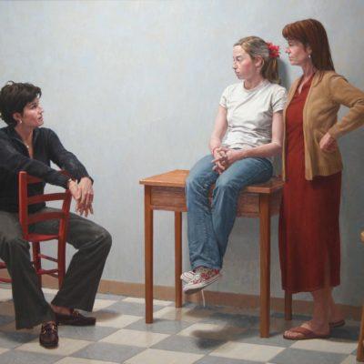 Greta, Andrea e Barbara- tela 160x220 cm