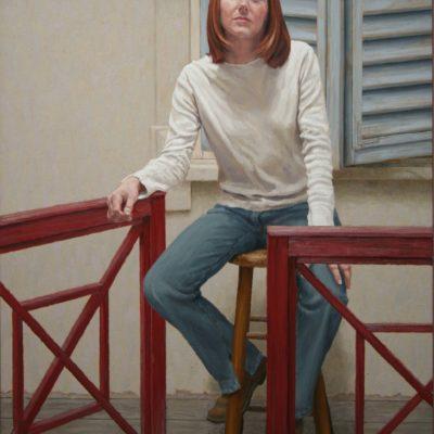 Lucia con i capelli rossi-tela 150x110 cm