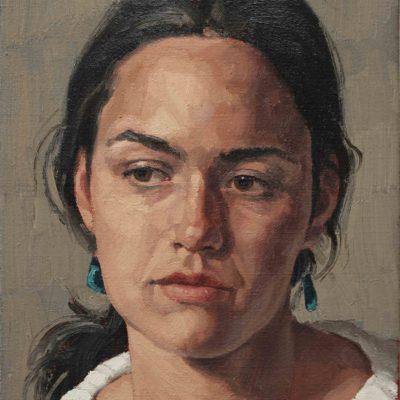 Serena - 2004, olio su tela 35 x 25 cm