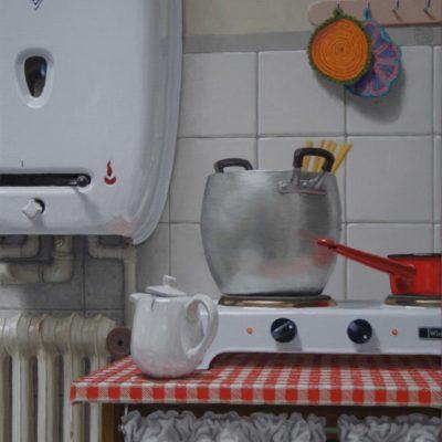 6 Acqua calda dappertutto 2007 olio su tela 100 x 60 cm 400x400 - Works archive