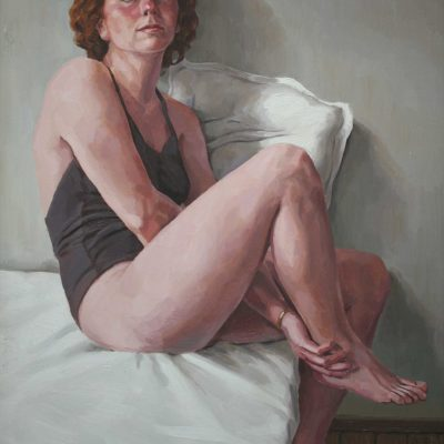 Bianco e nero - 1999 - olio su tavola 80 x 60 cm