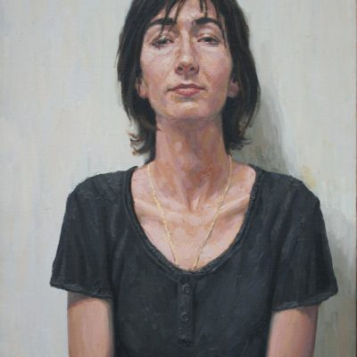 Bianco e nero - 2002 - olio su tela 80 x 50 cm