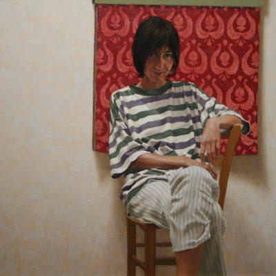 Catalogo di Damaschi - olio su tavola 100 x 120 cm