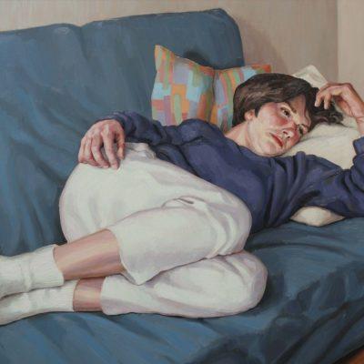Due cuscini - 1999 - olio su tavola 70 x 110 cm